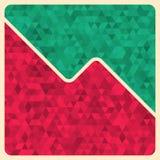 Abstract Retro Geometric Background. Stock Image