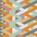 Abstract retro geometric pastel art deco style pattern Stock Images