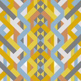 Abstract retro geometric pastel art deco style pattern. Vector illustration Stock Images