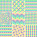 Abstract retro geometric pattern Stock Image