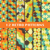 Abstract retro geometric patterns set Royalty Free Stock Photos