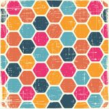 Abstract retro geometric scratched background Royalty Free Stock Photography