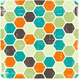 Abstract retro geometric scratched background Royalty Free Stock Images