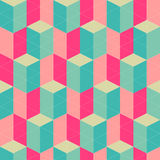 Abstract retro geometric seamless pattern Stock Photography
