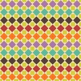 Abstract retro geometric seamless pattern. Vector illustration Royalty Free Illustration