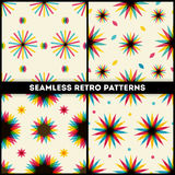 Abstract Retro Geometric seamless patterns collection Royalty Free Stock Photo