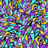 Abstract Retro Geometrisch naadloos patroon met driehoeken Royalty-vrije Stock Foto's