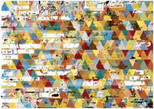 Abstract retro grunge triangles background stock photos