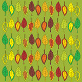 Abstract retro illustration with autumn leaves Stock Photos