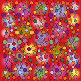 Abstract retro illustration with bubbles Stock Photos