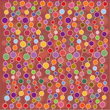 Abstract retro illustration with bubbles Stock Photography
