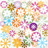 Abstract retro illustration with flowers Royalty Free Stock Image