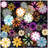 Abstract retro illustration with flowers Stock Photos