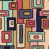 Abstract retro inheems vector naadloos patroon stock illustratie