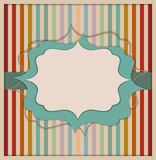 Abstract Retro Invitation Card. With Colorful Background Made Of Stripes Stock Photos