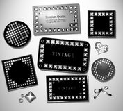 Abstract retro label and stiker with stud Royalty Free Stock Images