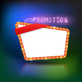Abstract retro light promotion banner. Royalty Free Stock Photos
