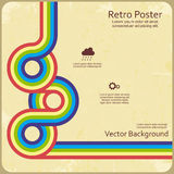 Abstract retro lines background. Vector Royalty Free Stock Photography