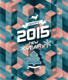 Abstract retro modern happy new year background Royalty Free Stock Images