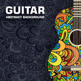 Abstract retro music guitar on the background of Stock Photo