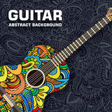 Abstract retro music guitar on the background of Stock Image