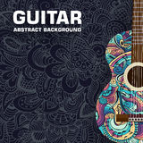 Abstract retro music guitar on the background of Stock Photos