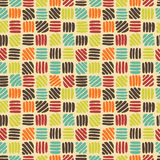 Abstract retro naadloos patroon Stock Afbeelding