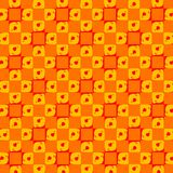 Abstract Retro Oranje Dots Tiles Wallpaper Royalty-vrije Stock Afbeelding