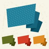 Abstract retro origami banners and speech bubbles Royalty Free Stock Images