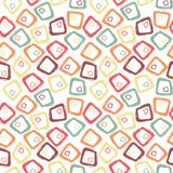 Abstract Retro Pastel Geometric Seamless Pattern Stock Photography