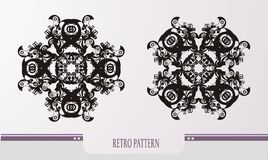 Abstract retro patterns stock illustration