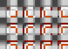 Abstract Retro Pixel Pattern Stock Photo