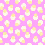 Abstract retro polka dot geometric seamless pattern background  with a fabric effect texture Stock Images