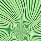 Abstract retro rays green background. Royalty Free Stock Image