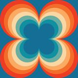 Abstract Retro Seamless Backround Orange Blue Vintage Seamless Pattern Repeating Pattern stock illustration