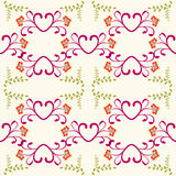 Abstract Retro seamless  Floral background Royalty Free Stock Photos