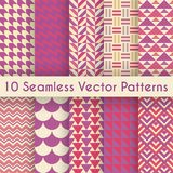 Abstract retro seamless pattern set. Vector Royalty Free Stock Photos