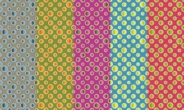 Abstract retro seamless pattern. Simple colorful ornament for textile, prints, wallpaper, wrapping paper, web etc. Available in EPS royalty free illustration