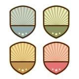 Abstract retro shield emblem Royalty Free Stock Photo