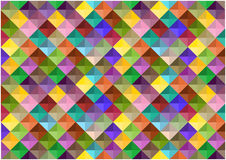 Abstract retro squares background. Color abstract mosaic tiles background stock illustration