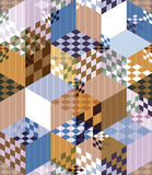 Abstract retro style seamless pattern. Stock Photography