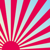Abstract retro sunrise background. Vector. Stock Photos