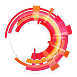Abstract retro technology circle. Vector . Royalty Free Stock Images