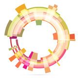 Abstract retro technology circle. Vector . Stock Photography