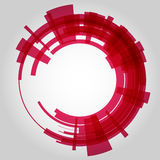 Abstract retro technology circle. Vector Royalty Free Stock Photos