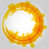 Abstract retro technology circle. Vector Stock Images