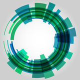 Abstract retro technology circle. Vector Royalty Free Stock Images