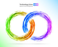 Abstract retro technology circles Royalty Free Stock Images
