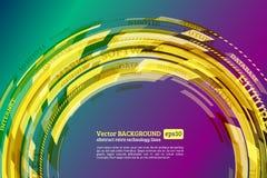Abstract retro technology circles Stock Photos