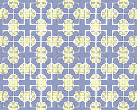 Abstract retro tile background yellow blue Royalty Free Stock Photos